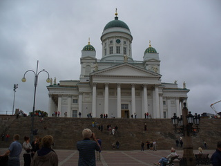 Helsinki evangelische Kathedrale - Finnland, Helsinki, Kirche, Kathedrale, evangelisch, Säulen, Kuppel, Figuren
