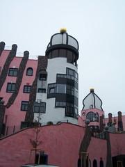 Hundertwasserhaus Magdeburg Turm - Hundertwasserhaus, Hundertwasser, Turm, Magdeburg, Grüne Zitadelle