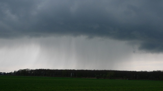 Regenwand  - Gewitter, Unwetter, Wetter, Wolken, Regen, schwarz, Regenwand, Regenfahnen, Niederschlag