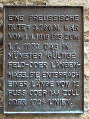 Erklärung zur preußischen halben Rute #2 - Maß, Maße, Maßeinheit, Längenmaß, Längenmessung, Landesvermessung, Landvermessung, historisch, Meter, messen, Länge, Klafter, preußisch