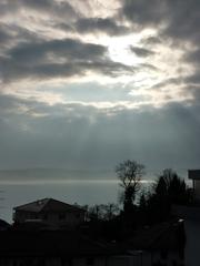 Wolkenformation - Wetter, Himmel, Wolken, Sonne, Sonnenstrahlen, Regenwolke, Wolke, Regen, Gewitter, Strahl, Lichtstrahl, Optik