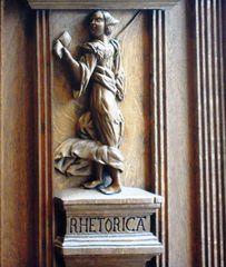 Rhetorica - Rhetorik, Heft, Schwert, Trivium, Allegorie, allegorisch, Ratskammer, Friedenssaal, Münster, Fensternischen