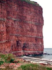 Felsen auf Helgoland - Helgoland, Kalksandstein, Kreide, Buntsandstein, Felsen, Geologie