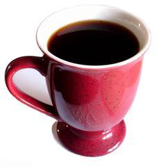Tasse mit Kaffee - Kaffee, Kaffeetasse, coffeinhaltig, Tasse, Genuss, Getränk, Heißgetränk, trinken