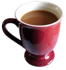 Kaffee mit Milch - Kaffee, Milchkaffee, Tasse, Geschirr, Getränk, Genuss