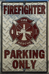 Feuerwehrparkplatz amerikanisch - Firefighter, parking, Feuerwehr amerikanisch, Parkplatz