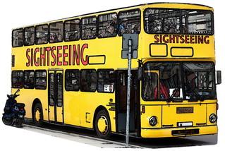 Doppeldeckerbus Cartoon - Bus, Omnibus, Doppeldeckerbus, Verkehrsmittel, Doppeldeckbus, Doppelstockbus, Stockautobus, Stockbus Kraftwagen, Kraftfahrzeug, Fahrzeug, Personenbeförderung, Personenverkehr, motorisiert, rollen, Sightseeing, Tourismus, Stadtrundfahrt