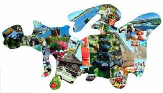 Europa Collage - Europa, Kunst, Karte, Grenze, Erdteil, Kontinent, Erdkunde, Umriss, Collage, Kunst, Impuls, Bildimpuls, Gesprächsanlass, Welt, Erde