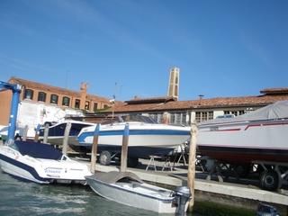 Schiffswerft auf Murano bei Venedig - Schiff, Werft, Reparatur, Venedig, Wasser, Kanal, Boot, Italien, Murano