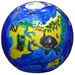 Unsere Erde - Welt, Erde, Skulptur Gips, Kugel