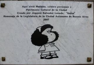 MAFALDA - Erinnerungstafel - Mafalda, quino, Joaquín Salvador Lavado