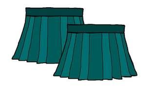 Röcke farbig - Rock, Röcke, Zeichnung, Bekleidung, Mehrzahl, Plural, Wörter mit ck, Wörter mit ö