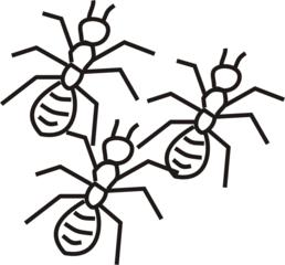 Ameisen - Ameise, Ameisen, Insekten, Wald, Mehrzahl, zwei, Anlaut A, Wörter mit ei