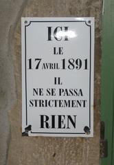 Lustiges Hinweisschild - Kurioses, Geschichte, Schild, Hinweis, Information, Schrifttafel, nichts los
