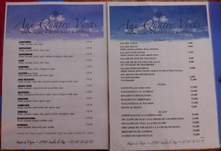 Speisekarte #2 französisch - Speisekarte, Speisenangebot, französisch, carte, restaurant, Speisen, Gerichte