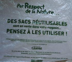 Sac en plastique - Beutel, Plastikbeutel, sac, plastique, Umwelt, environnement