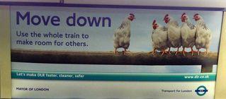 Hinweisschild in der  U-Bahn 07 - sign, English, tube, underground
