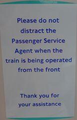 Hinweisschild in der  U-Bahn 02 - sign, English, tube, underground
