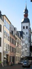 Bonn, Bonngasse mit Beethoven-Haus  - Bonn, Bonngasse, Beethovenhaus, Barock
