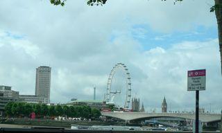 The London Eye - London, Riesenrad, London Eye, Millennium Wheel, Themse, Gondeln