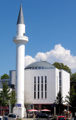 Moschee in Konstanz am Bodensee - Gebäude, Moschee, Religion, Weltreligion, Sakralbau, Islam, Minarett, beten