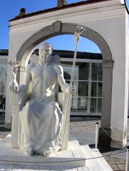 Die sieben antiken Weltwunder #2a - Zeus, Statue, Phidias, Olympia, Denkmal, Standbild, weiß, Weltwunder, Antike
