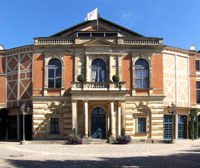 Festspielhaus Bayreuth #2 - Richard Wagner, Festspielhaus, Bayreuth, Bayreuther Festspiele, Oper, Opernhaus, Musik, berühmt, grüner Hügel
