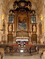 Kloster Benediktbeuern #3 - Kloster, Klosterkirche, St Benedikt, Benediktiner, katholisch, Orden, Barock, Stuck, Fresken, Basilika, Altar