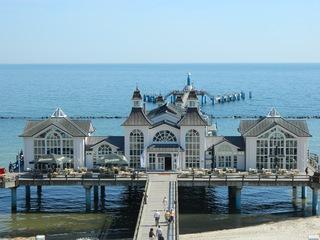 Sellin Seebrücke - Brücke, Seebad, Ostseebad, Sellin, Rügen, Insel, Ostsee, Seebrücke, Pavillonbau, Strand, Wahrzeichen, Wiederaufbau