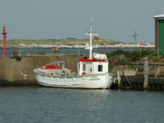 Forschungsboot - Boot, Meer, Insel, Helgoland, Schiff, Hafen, Mole, Forschung