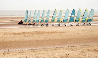 Strandsegeln - Strandsegler, Strandsegeln, Segel, segeln, Strand, Sand, Wind, Sport, Sommer, Hobby, Räder, Meer, Küste