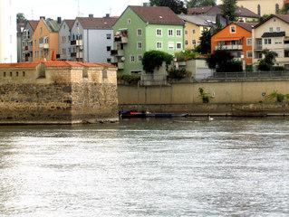 Passau - die Dreiflüssestadt #2 - Passau, Fluss, Flüsse, Donau, Ilz, Zufluss, Mündung, Nebenfluss, fließen, münden