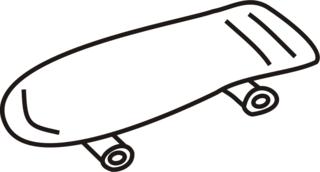Skateboard - Skateboard, rollen, skaten, Anlaut S, spiele, Spaß, action