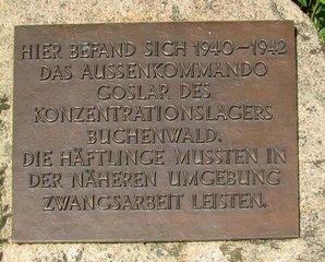 Gedenkstein Goslar für Außenlager Buchenwald #2 - Denkmal, KZ, Buchenwald, Goslar, Nationalsozialismus, Zwangsarbeit, Terror, Verfolgung, Todesmarsch