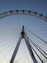 London Eye Perspektive#2 - London, England, Sightseeing, Themse, London Eye, Riesenrad, Perspektive, Blickwinkel, Millennium Wheel, Umdrehung, Rad, Kreis, Speichen, Konstruktion, Ausflug, Erlebnis, Gondeln, Sehenswürdigkeiten, sights
