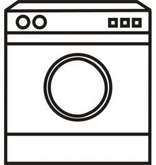 Waschmaschine - Waschmaschine, waschen, sauber, schmutzig, dreckig, Wäsche, Anlaut W, Wasser, Wörter mit sch