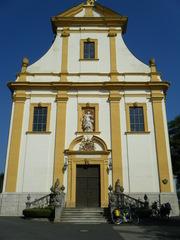 Schutzengelkirche Gaukönigshofen#1 - Schutzengelkirche, Gaukönigshofen, Rokoko, Kirche, Eingang, Tür, Eingangsportal, Fassade, Portal