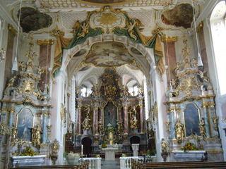 Schutzengelkirche Gaukönigshofen#3 - Schutzengelkirche, Gaukönigshofen, Rokoko, Innenraum, Altar, Seitenaltar