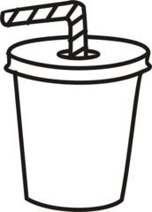 Becher - Becher, Pappbecher, Strohhalm, trinken, Getränk, Anlaut B