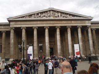 British Museum London - Geschichte, London, British Museum, Museum, Säulen, ionisch, Gebäude, Giebel, Tympanon