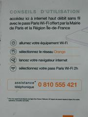 Pass Paris Wi-fi - Paris, wi-fi, w-lan, Internet, conseils d'utilisation, Gebrauchsanleitung