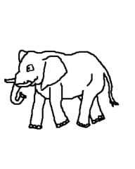 Elefant - Elefant, elefant, Dickhäuter, Dumbo, Afrika, Zeichnung, Clipart