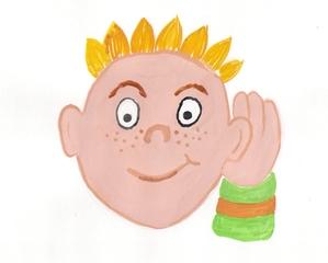Zuhören - Klassenregel, Gesprächsregel, zuhören, aufpassen, hören, aufmerksam, Aufmerksamkeit, Bildkarte, Impulskarte, Organisation