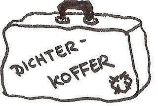 Koffer  - Koffer, Dichterkoffer, Illustration, Zeichnung, Deutsch, Anlaut K, Wörter mit Doppelkonsonanten