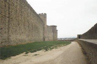 Carcassonne - zwischen Innen- und Außenmauer - Mittelalter, Stadtmauer, Carcassonne