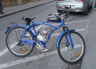 Fahrrad mit Hilfsmotor - Fahrrad, Hilfsmotor, Fortbewegung, Antrieb, Kraftrad, Fahrradtyp, Elektrokraftrad