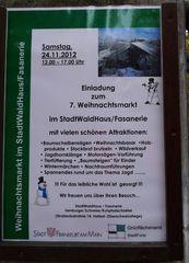 Hinweisschild für Weihnachtsmarkt - Hinweis, Veranstaltung, Information, Schild, Hinweisschild