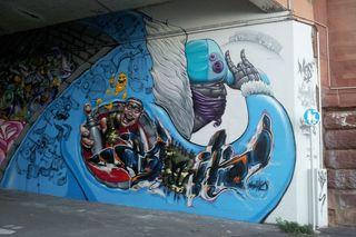 Graffito - Graffiti, Mauerbilder, Graffito, Bild, Kunstform, Wandmalerei