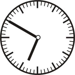 Uhrzeit 6.50 - 18.50 - Uhr, 10 Minuten vor, Uhrzeit, Zeit, Zeitspanne, Zeitpunkt, Zeiger, Mechanik, Zeitskala, Zeitgeber, Analoguhr, Zifferblatt, Ziffernblatt, rechtsdrehend, Uhrzeigersinn, Minute, Stunde, Kreis, Winkel, Grad, Mathematik, Größen, messen, time, clock, ermitteln, Zeitraum, Dauer, Frist, Termin, Zeitabschnitt
