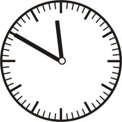 Uhrzeit 11.50 -  23.50 - Uhr, 10 Minuten vor, Uhrzeit, Zeit, Zeitspanne, Zeitpunkt, Zeiger, Mechanik, Zeitskala, Zeitgeber, Analoguhr, Zifferblatt, Ziffernblatt, rechtsdrehend, Uhrzeigersinn, Minute, Stunde, Kreis, Winkel, Grad, Mathematik, Größen, messen, time, clock, ermitteln, Zeitraum, Dauer, Frist, Termin, Zeitabschnitt